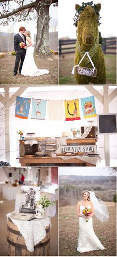 Love this country wedding table idea.
