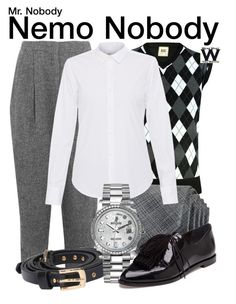 """Mr. Nobody"" by wearwhatyouwatch ❤ liked on Polyvore featuring Acne Studios, John Varvatos * U.S.A., Lareida, Rolex, Loeffler Randall, wearwhatyouwatch and film"