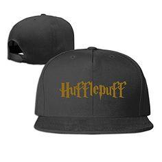 aaab761002d97 HmkoLo Harry Potter Hufflepuff Cotton Flat Bill Baseball Cap Snapback Hat  Unisex