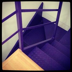 Purple stairs