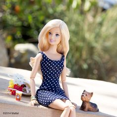 """""""Enjoying a day with Ms. Honey in Silver Lake. #barbie #barbiestyle"""""""