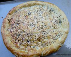 Home made Turkish round flat bread, Pide Ekmek