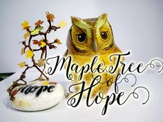 Upcycling Project: Stone Tree: Maple Tree of Hope (Upcycling Grape Branches) Materials: Dried Grape Branch Garden Stone paper Stock Elmer's Glue / Mod Podge . Arts And Crafts, Paper Crafts, Elmer's Glue, Maple Tree, Leaf Shapes, Recycled Materials, Folk Art, Upcycle, Recycling