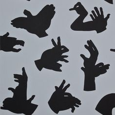 """""""Hand Made"""" Grey Wallpaper by PaperBoy"""