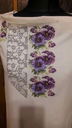 Cross Stitch Rose, Stitch 2, Tunisian Crochet, Filet Crochet, Embroidery Patterns, Machine Embroidery, Flower Coloring Pages, Brazilian Embroidery, Crochet Fashion