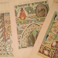 とにかく美しい花の図案集 印刷博物館でクロモリトグラフの行程を見たあとなので 感動が倍増  #papier #decoration #artnouveau #artdeco #chromolithograph #古い紙もの #図案集 #花の図案集 #クロモリトグラフ #フランスアンティーク #galleryichi #gallery壹