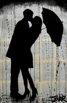 "Saatchi Online Artist: Loui Jover; Ink 2013 Drawing ""rainy day romantics"""