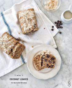 Coconut loaf made with shredded coconut coconut milk and coconut oil instead o