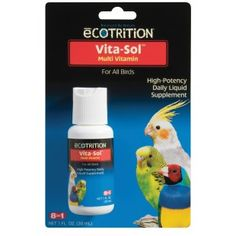 eCOTRITION D372 Vita-Sol for Birds 2oz