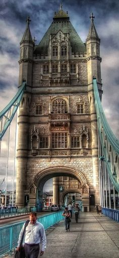 Tower Bridge in London • photo: Francesco Capolupo on Flickr.  This was fun to walk across.