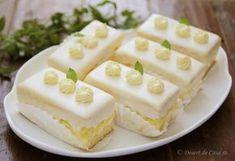 Prajitura cu lamaie Baking Recipes, Cake Recipes, Romanian Desserts, Cooking Bread, Square Cakes, Just Cakes, Mini Cheesecakes, Dessert Bread, Sweet Tarts