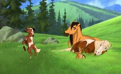 Spirit and Rain and their two foals Tahoe and Nenya Spirit The Horse, Spirit And Rain, Horse Drawings, Cute Drawings, Animal Drawings, Arte Disney, Disney Art, Spirit Der Wilde Mustang, Anime Animals