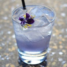 Spring Fling, One Market Restaurant San Francisco. Blanco Tequila, crème de violette, St-Germain elderflower liqueur