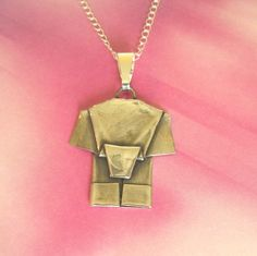Silver Origami Elephant Pendant.