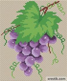 Cross Stitch Kitchen, Cross Stitch Bird, Simple Cross Stitch, Cross Stitch Flowers, Cross Stitch Designs, Cross Stitch Pattern Maker, Cross Stitch Patterns, Cross Stitches, Loom Patterns