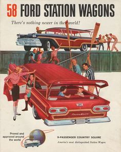 1958 Ford Country Squire Ad.
