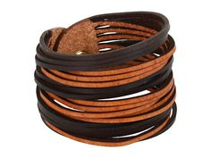 Linea Pelle Two Tone Sliced Leather Cuff from Zappos.com via http://pinpointing.apps.zappos.com