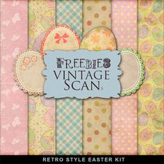 Freebies Retro Style Easter