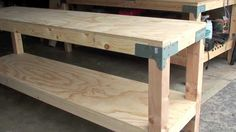 Work Bench $80.00 - 24 x 96. 36 tall. #garage #diy