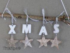 kersthanger, sterren aan tak