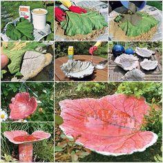 How to DIY Sand Cast Birdbath in Leaf Shape | www.FabArtDIY.com LIKE Us on Facebook ==> https://www.facebook.com/FabArtDIY