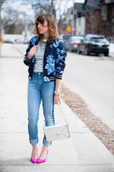 Casual Wear, Casual Outfits, Bomber Jacket Outfit, Sports Jacket, What To Wear, Ideias Fashion, Cool Style, Street Style, Stylish
