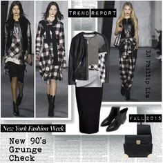 Trend Report NYFW Fall 2015 New 90's Grunge Check