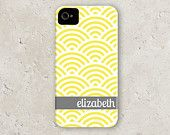 """iPhone 5 - personalized custom iPhone cell phone case - """"quatrefoil with script name"""". $40.00, via Etsy."""