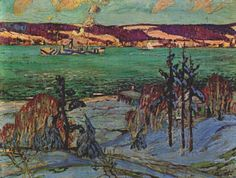Winter Camouflage, Arthur Lismer Canadian, Member of The Group of Seven 1885 - 1969 Emily Carr, Ontario, Group Of Seven Paintings, Tom Thomson Paintings, Ww1 Art, Dazzle Camouflage, Canadian Winter, Inuit Art, Virtual Art