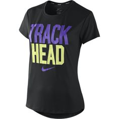 "Nike Challenger ""Track Head"" Women's Running Shirt - Black, L ($17) found on Polyvore"