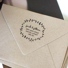 Custom Address Stamp, Self Inking Rubber Stamp, Wooden Address Stamp, Calligraphy Stamp, Personalized Gift - 1206 Custom Address Stamp, Custom Stamps, Wedding Stationary, Wedding Invitations, Save The Date Karten, Wedding Pinterest, Whimsical Wedding, Wedding Paper, Custom Wood