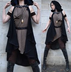 Witch Fashion, Gothic Fashion, Fantasy Costumes, Cosplay Costumes, Mode Outfits, Fashion Outfits, Star Wars Outfits, Apocalyptic Fashion, Character Outfits