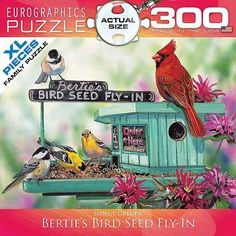 EuroGraphics Bertie's Bird Seed Fly-In 300-Piece Puzzle, Small Box FOR GRANNY