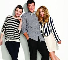 Chris Colfer, Cory Monteith, and Dianna Agron
