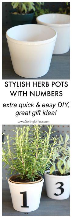 Stylish DIY Herb Pot