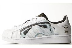 dea5b968eec These iconic shell-toe shoes harness the power of the Force with a  Stormtrooper graphic