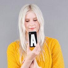 iPhone Fodral med första bokstaven i namnet.