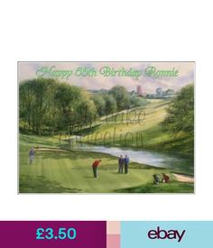 Baking Accs. & Cake Decorating Golf Course Hobby Edible Cake Or Cupcake Toppers Icing Or Wafer #ebay #Home & Garden