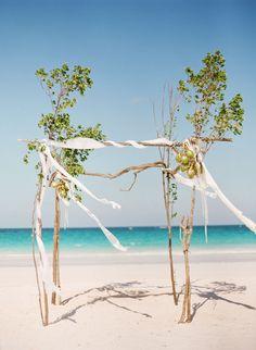 Decoración de boda en la playa
