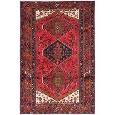 ecarpetgallery Hand-Knotted Hamadan Red Wool Rug