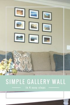 Trying to add a gallery wall to your home? Here are 4 easy steps to create a budget friendly gallery wall for your home!  Click through or repin for later! Gallery wall | gallery wall ideas