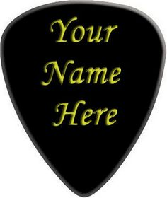 Personalized Guitar Pick Your name on a guitar by TwistedPicks #handmade #tbec #florida #pendant