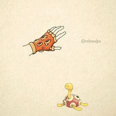 No. 213 - Shuckle. #pokemon #shuckle #gloves #pokeapon
