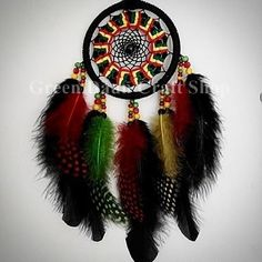 #Rastafarian colour theme #dreamcatcher. The meaning of each colour is: The #BLACK is for Africa. The #RED is for the blood of all living things in the world. The #YELLOW is for all of the treasures in the world that people cherish. The #GREEN is for the earth that people walk on to which #Rastas feel a special connection. These colours represent the #Rastafari way of life. #dreamcatchermalaysia #rasta #handmade #colourful #madeinmalaysia http://ift.tt/2cJDpEh