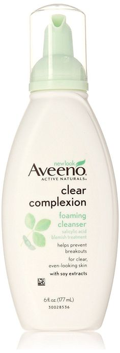 Aveeno Clear Complexion Foaming Cleanser, 6 Ounce (Pack of 3) ** Hurry! Check out this great product : Face Cleansers Skin Care