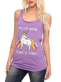 HOTTOPIC.COM - Stabby Unicorn Girls Tank Top