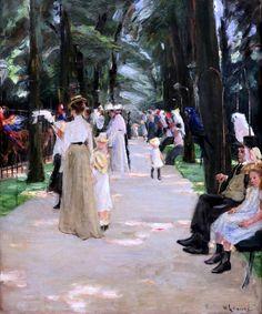 Max Liebermann. 1847-1935. Berlin. Papageieallee à Berlin. Papageieallee in Berlin. 1902. Bremen. Kunsthalle.