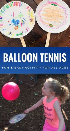 Balloon Tennis - Fun & Easy Activity for All Ages - Glitter On A Dime - Fun Activities for Kids - Balloon Tennis is a fun and easy activity for all ages. It is a great party game for kids. Summer Camp Activities, Fun Activities For Kids, Camping Games For Kids, Outside Games For Kids, Games For Children, Fun For Kids, Childrens Games Ideas, Creative Ideas For Kids, 1st Birthday Activities