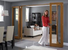 Living room / dining room or dining room / kitchen - Internal Bifold Doors & Interior Folding Room Dividers Door Dividers, Room Divider Doors, Folding Room Dividers, Room Doors, Partition Door, Internal Folding Doors, Cosy Room, Interior Design Living Room, Interior Door