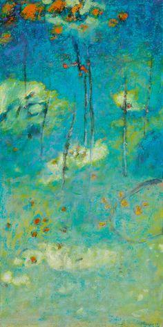 "Rick Stevens, Above All | oil on canvas | 32 x 16"""